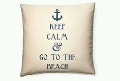 Beach style decor!!! Bebe'!!! Love this pillow!!!