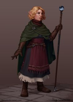 f Halfling Cleric RPG Female Character Portraits Fantasy Character Design, Character Creation, Character Concept, Character Art, Concept Art, Character Ideas, Female Gnome, Female Dwarf, Female Elf
