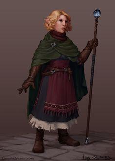f Halfling Cleric RPG Female Character Portraits Female Gnome, Female Dwarf, Female Wizard, Female Elf, Fantasy Races, Fantasy Warrior, Fantasy Rpg, Dark Fantasy, Dungeons And Dragons Characters