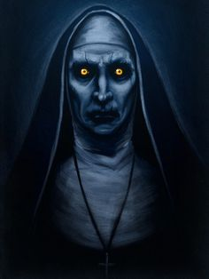 Valak painting - The Conjuring 2 Horror Movie Posters, Horror Movie Characters, Horror Icons, Horror Movies, Scary Drawings, Horror Drawing, Horror Photos, Satanic Art, Horror Artwork