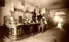 Two Barmen Tend to An Old West is listed (or ranked) 10 on the list Beautiful Old Photos Of Life In The Real Wild West Western Saloon, Old West Saloon, Old West Photos, Rare Photos, Photos Du, Vintage Photos, Bizarre Photos, Antique Photos, Vintage Prints