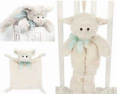 Bearington Bears Plush Lamby Lamb Sheep Baby Wee Blanket Rattle Musical Pull Toy | eBay