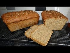This recipe makes two wonderfully seedy rye and wheat loaves. This is a lovely alternative to your usual bread. Ice Cream Photos, Rye Bread, Baking And Pastry, Instant Yeast, Holiday Cakes, Gluten Free Cooking, Original Recipe, Cake Cookies, Beautiful Cakes