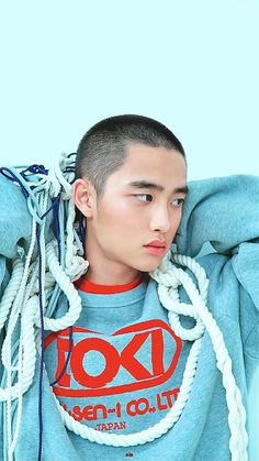 I have a feeling I'm going to miss his bald head when his hair grows back. Kyungsoo looks so good and can pull this hairstyle off. Probably the only kpop idol who can. Kyungsoo, Chanyeol, Kaisoo, D O Exo, Exo Korean, Do Kyung Soo, Kim Junmyeon, Shaved Head, Korean Entertainment