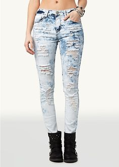 High Waisted Super Skinny Jeans | Bottoms | rue21