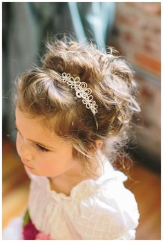 Sweet #flowergirl #headband (hand beaded flowers) by Whitney Alyssa