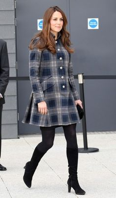 The Duchess of Cambridge leaving the Emirates Arena in Glasgow.