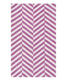 Plum Stripe Piper Rug | Daily deals for moms, babies and kids