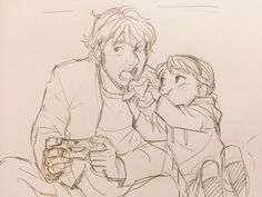 Awwww, I can just imagine all the cuteness already! Ana watches the two of her most beloved ones and take a picture.