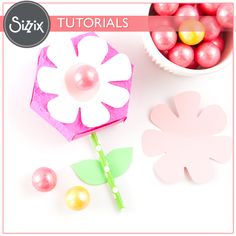 Sizzix Tutorial | Springtime Flower Boxes by Melissa Fallon