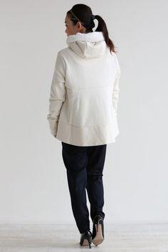 araara(アラアラ) Aラインショートパーカー【164041】white - YAMAROKU(ヤマロク) オンラインストア