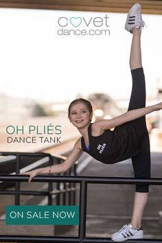 Oh please! Show off your sense of dance humor side at the dance studio. This cute tank from Covet Dance will have everyone, including your dance teacher, laughing and wishing they had bought it first! Ballet dancer, Elliana Walmsley from Dance Moms is performing an awesome arabesque while she waits for the train in this stunning sample of dance photography. Dance Teacher, Your Teacher, Elliana Walmsley, Dance Humor, Tiny Dancer, Dance Studio, Girl Dancing, Dance Photography, Dance Moms
