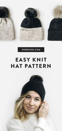 KNIT ⨯ The Savante KNIT ⨯ The Savante,Knitting This knit hat pattern is perfect for beginners! Pattern includes step by step photos, and video support. All patterns are buy 3 get 3 free on. Beginner Knitting Patterns, Crochet Patterns For Beginners, Easy Knitting, Knitting For Beginners, Knitting Projects, Loom Knitting, Free Knitted Hat Patterns, Loom Knit Hat, Knitting Hats