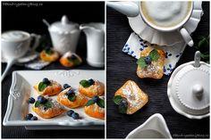 Šátečky s ovocnou náplní Budget Meals, Pisa, Cupcakes, Sweets, Dining, Cooking, Breakfast, Tableware, Desserts