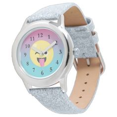 Silly Emoji Ombre Glitter Watch - girly gift gifts ideas cyo diy special unique