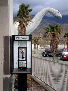 Prehistoric Palm Springs Pay Phone