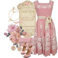 Priestley'S Vintage Anna Pink Dress