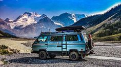 Somewhere in high mountains. Volkswagen Westfalia Campers, T3 Vw, T3 Camper, Camper Van Life, Vw Vanagon, Off Road Camper, Volkswagen Bus, Transporter T3, Combi Vw