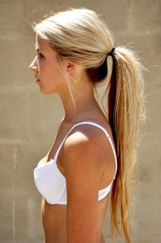 Blonde top, brown underneath