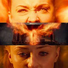 """A phoenix will rise"" 🔥🦅. Ms Marvel, Captain Marvel, Marvel Comics, Jean Grey Phoenix, Dark Phoenix, Cherik, Beautiful Fantasy Art, Mike Deodato, Silver Surfer"