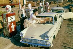 33 Candid Snapshots of Women Posing With Ford Cars in the Past Ford Anglia, Henry Ford, Automotive Art, Ford Motor Company, Female Poses, Car Ins, Cars And Motorcycles, Antique Cars