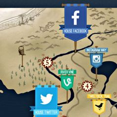 Social Media Wars Told in Game of Thrones Style. Social Media Winter is Coming. Hehe, it's really great ;)
