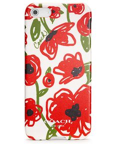 COACH POPPY FLORAL IPHONE 5 CASE - Coach Accessories - Handbags & Accessories - Macy's