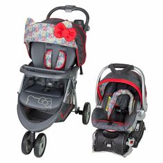 Baby Trend EZ Ride 5 Travel System, Hello Kitty #Unbranded Car Seat And Stroller, Pram Stroller, Baby Strollers, Double Strollers, Baby Girl Car Seats, Hello Kitty Car, Travel Car Seat, Orbit Baby, Travel Systems For Baby