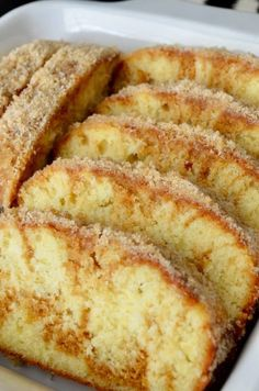 Cinnamon Donut Bread - Hot Rod's Recipes A delicious cinnamon donut flavored bread. Tastes just like Cinnamon Sugar donuts! Just Desserts, Delicious Desserts, Dessert Recipes, Yummy Food, Pudding Recipes, Mr Food Recipes, Healthy Food, Bakery Recipes, Dinner Healthy