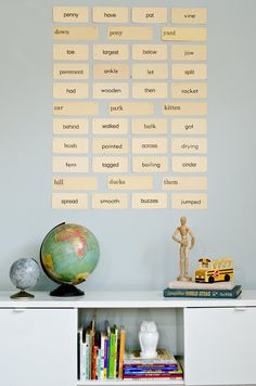 Simple wall art with vintage flash cards - feature image