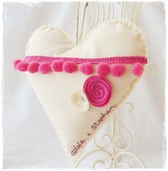 Personalised Wedding Heart £11.95 from Quirky Boots