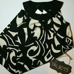 SALE DROP!! Talbots Shift Dress with Pockets NEW Breezy Talbots loose fitting shift. Off white and black. Unlined. Purchased $139, retails $179 Talbots Dresses