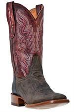 Dan Post Women's San Saba Distressed Chocolate Leather Cowgirl Boots