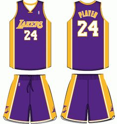 7f85f15fb0c Los Angeles Lakers Road Uniform 2000- Present Road Logo, Basketball Uniforms,  Sports Logos