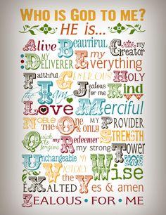 Who Is God To Me? Printable