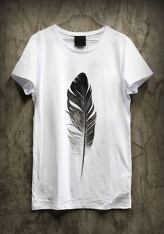 7262aa1610 Méchant Design  feather love Design T Shirt