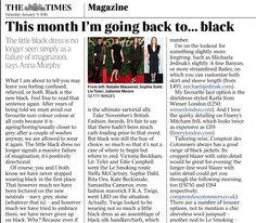 Michaela Jedinak featured by Anna Murphy in the Times Magazine.