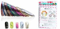 Nail Stripes By Cheeky- Wonderful Nail Decoration Set of 30 Nail Strips in 30 Different Colors. Looks Amazing with Nail Rhinestones and Nail Fimo Decoration. by Cheeky. $5.49. This set contains 30 stripes in 30 different colors and enjoy the famous premium quality of Cheeky products.. Cheeky is a registered trademark in variety of beauty segments such as nail products and makeup.. We highly recommend using Cheeky's complementary nail art products such as nail art r...