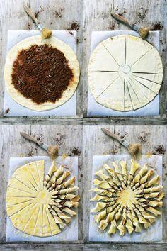 Tarte soleil chocolat, amande et miel - Facile
