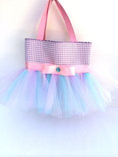 Purple Pink and Blue Tutu Bag - Dance Bag - Ballet Tutu Bag on Etsy, $28.00