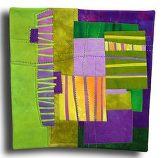 Grape Street - Melody Johnson: Art Quilts - Galleries - Streets and Rivers Series Small Quilts, Mini Quilts, Arte Judaica, Quilt Modernen, Contemporary Quilts, Arte Popular, Patchwork Quilting, Fabric Art, Quilting Designs