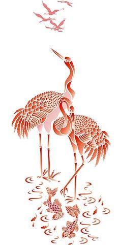koi stencil designs - Google Search