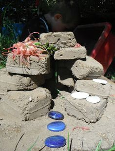 "Making & playing with mud bricks ("",)"