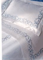 Find beautifully embroidered luxury duvet covers at Aiko Luxury Linens! We offer a selection of designer brands with options for custom embroidery.