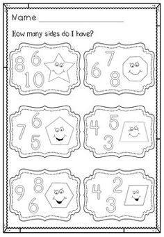 SHAPES - Confetti, Find the Shape, Count the Shapes No ...