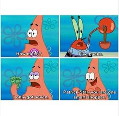 we all know Patrick is very smart :)