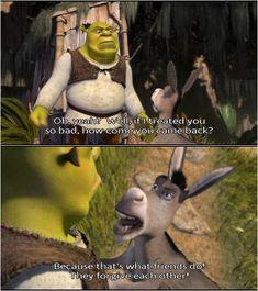 Ideas for memes shrek donkeys Shrek Quotes, Shrek Memes, Movie Memes, Funny Movies, Good Movies, Shrek Funny, Awesome Movies, Fun Funny, Funny Pics