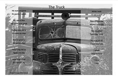 The comparison of a dying truck and the resurrection of new life.
