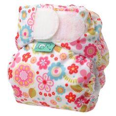 TotsBots Teenyfit Flower Power newborn nappy (5lbs-12lbs) - squeee! :)