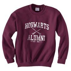 Harry Potter Hogwarts Alumni est 993 Size M Sweatshirt Unisex Color Maroon. $24.25, via Etsy.
